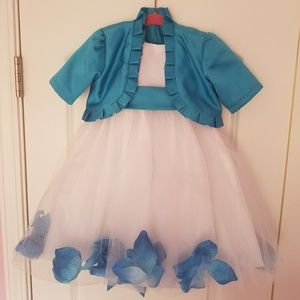 Adorable flower girl dress/jacket and accessories